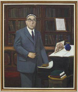 Рахманов Х.  Портрет Юнуса раджабий. 1984