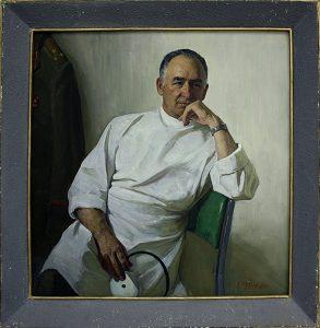 Рубин Илья. Портрет заслуженного врача Узбекистана, полковника Г.А.Арустамова . 1984 . (ДХВ)