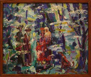 Базарбай Серекеев. Беседа в саду. 2007
