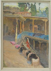 Юрий Зорькин. Очаг на крыше. 1973