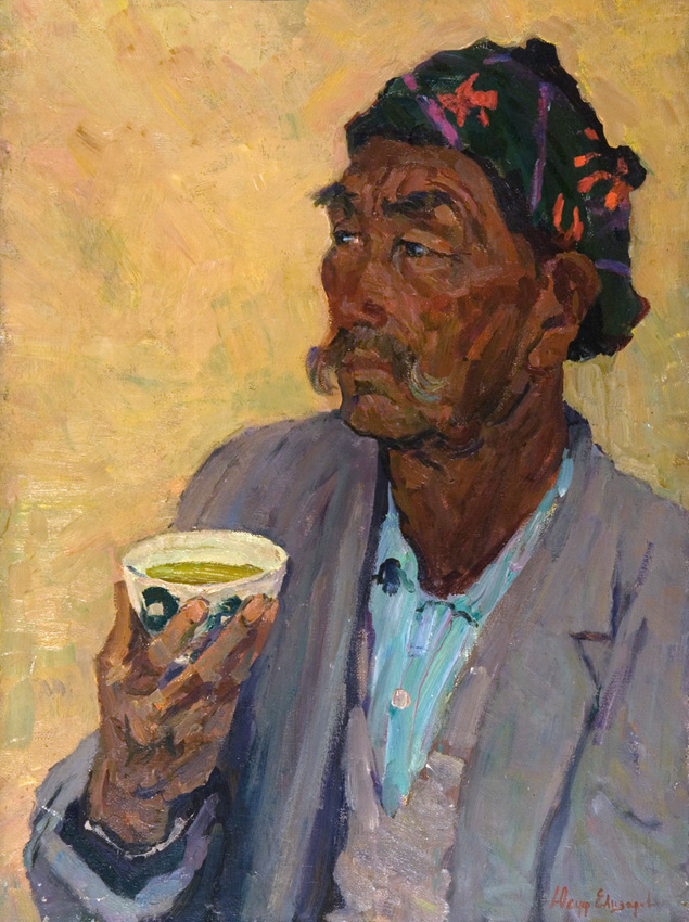 Елизаров Ю. «Портрет Очилова» х.м., 80х58 см.