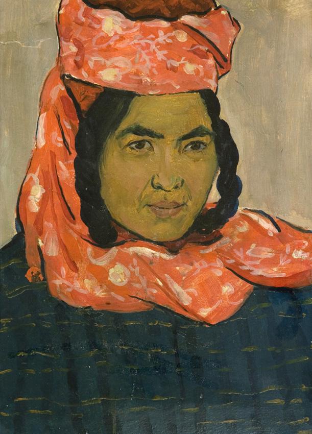 Ахмедов Р. «Этюд к картине «Женщина из Карши». 1960