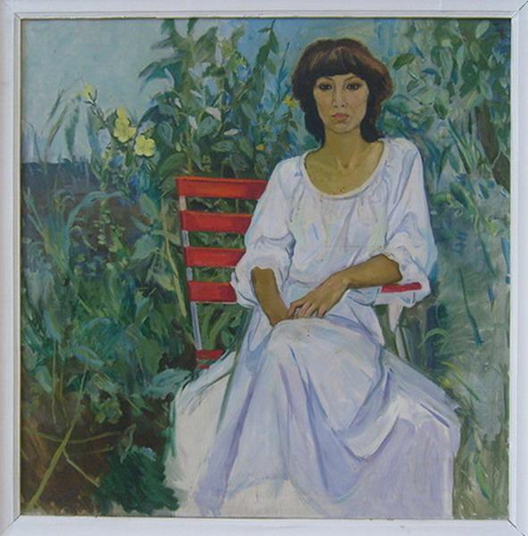 Р.Ахмедов. Портрет искусствоведа. 1982