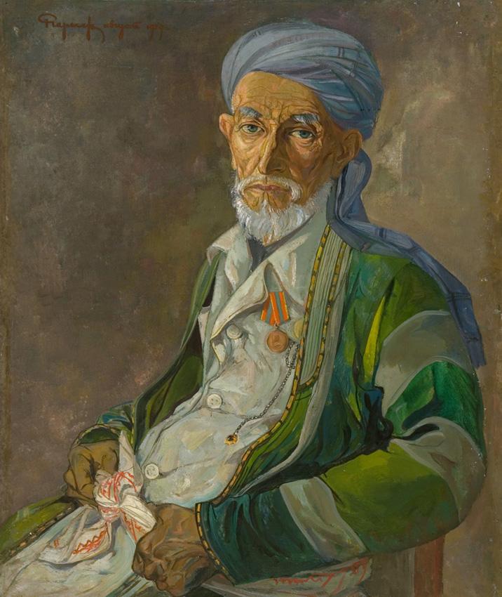 Чарыев Р. «Портрет старика из Сайроба» х.м., 90,5х75,5 см.