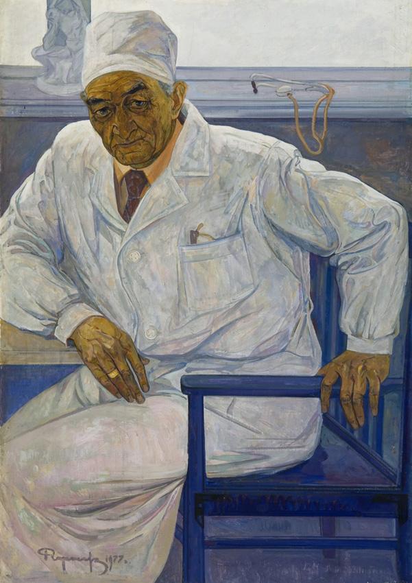 Чарыев Р. « Портрет врача Я. Махмудова» х.м., 160х106 см.