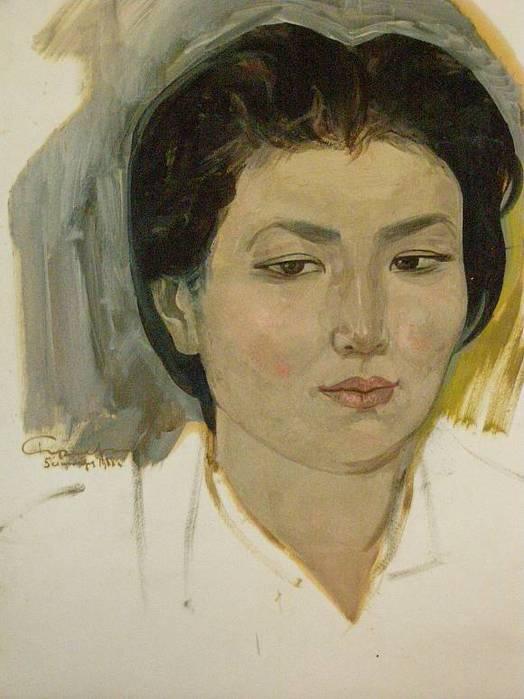 Рузы Чарыев. портрет девушки.