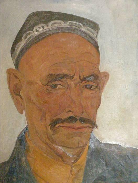 Рузы Чарыев. портрет мужчины.