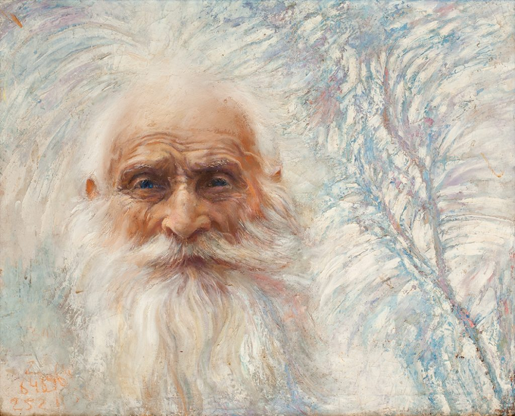 Шувалова Маргарита  «Белый учитель»  57х70 2006 хм