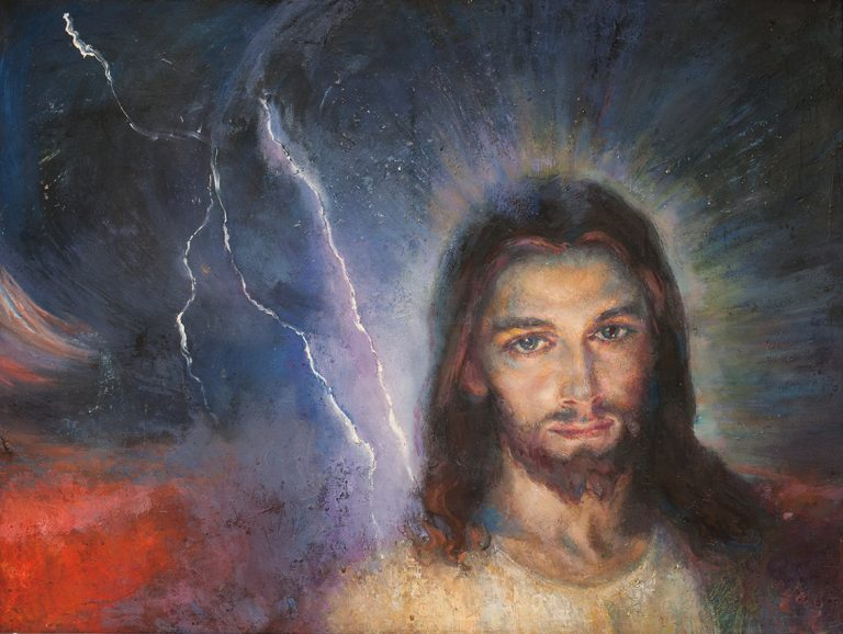 Шувалова Маргарита  «Иисус»  54х58 2013 хм