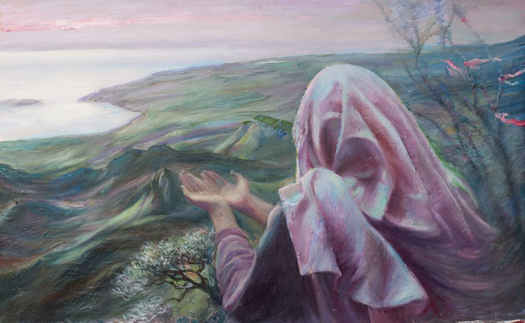 Шувалова Маргарита  «Молитва»  110х59 2012 хм