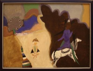 Ибрагимов Леким. Всадница на белом коне. 1992