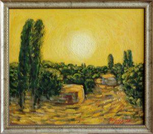 9-Г.Кадиров.Желтое утро.61х70 см.х,м.1993г