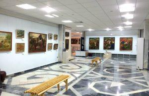 Экспозиция выставки А. Н. Волкова вмузее И. В. Савицкого в Нукусе