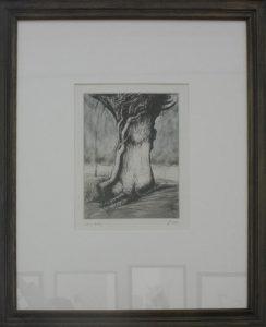 Генри Мур. Деревья I. Ствол и лиана. 1979. Офорт