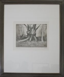 Генри Мур. Деревья III. Ствол с наростами. 1979. Офорт