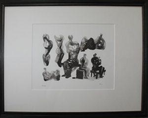 Генри Мур. Идеи для скульптуры. 1975. Литография.