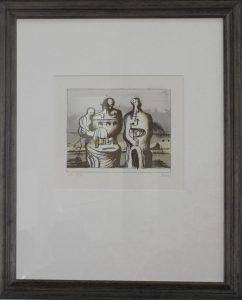 Генри Мур. Мать и детя- раковина. 1976. Литография 7 цветов