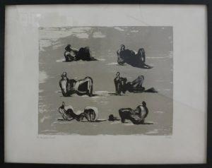 Генри Мур. Шесть полулежащих цветов. 1974. Литография