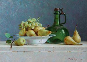 Арт_Трио. Натюрморт Груши с виноградом.