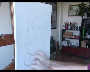 Арт-Трио. Портрет Кизлархон Хожаева Процесс