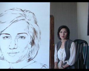 Арт-Трио. Портрет Кизлархон ХожаевойПроцесс-2