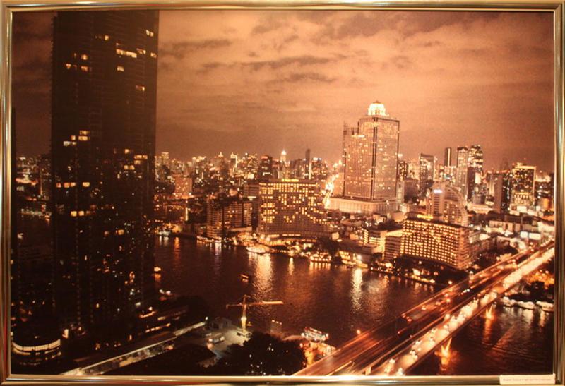 Банкок, Таиланд. Ночной город , вид с небоскрёба.