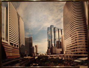Банкок, Таиланд. Новые конструкции в центре города с воздушным метро.