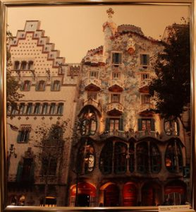 Барселона. Испания. Casa Batlo один из шедевров Гаудиса 1904г.