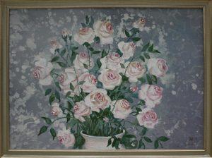 Ульмасова Муссавар. Белые розы. 2010