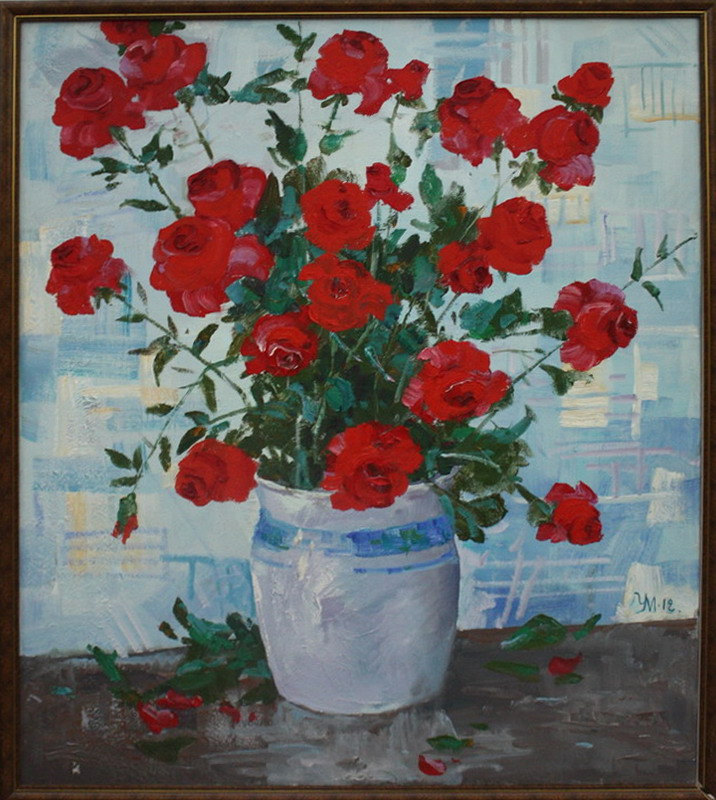 Ульмасова Муссавар. Красные розы. 2012.