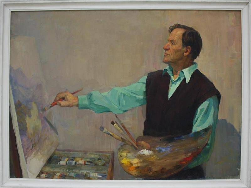 Енин Иван. Портрет художника С.Колыбанова. 1964 (ДХВ)