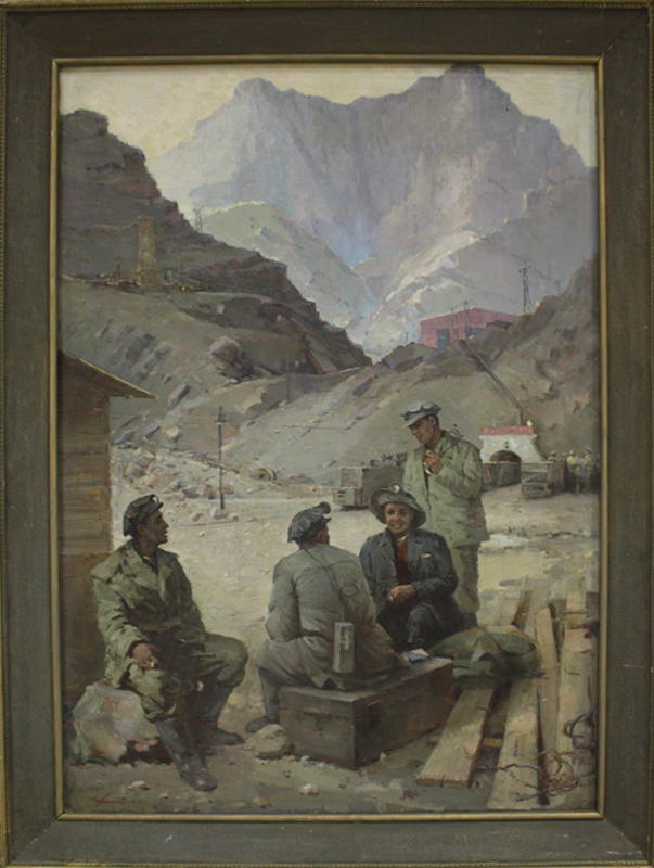 Губанов М. Шахтёрская смена. 1960 (ДХВ)