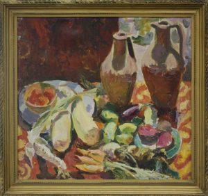 Кашина Н. - Натюрморт _ Баклажаны. 1942