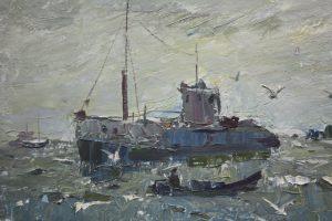 Мадгазин Ф. Муйнакский рыбзавод. 1970. Фрагмент 1