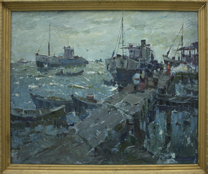 Мадгазин Ф. Муйнакский рыбзавод. 1970 (ДХВ)