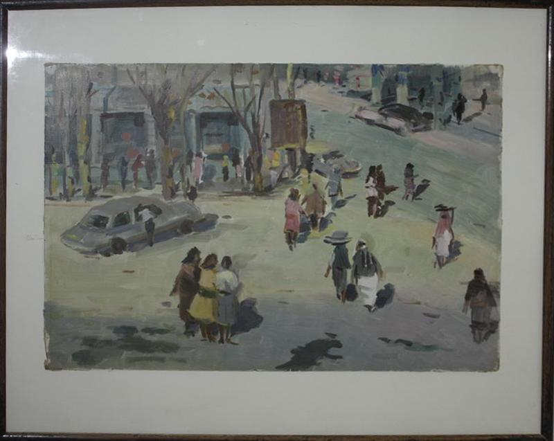 Пучковский В. Улица в Маргилане. 1960 (ДХВ)