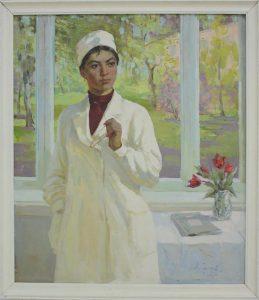 Серков А.И. Портрет молодого врача. 1966