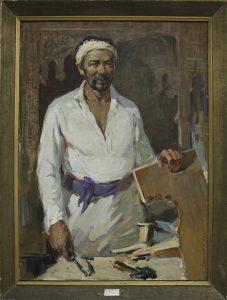 Скоков Г. Портрет мастера К.Хайдарова. 1964