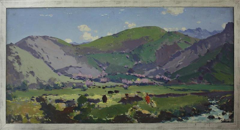 Тансыкбаев Урал. Весна в горах (Бричмулла). 1961 (ДХВ)