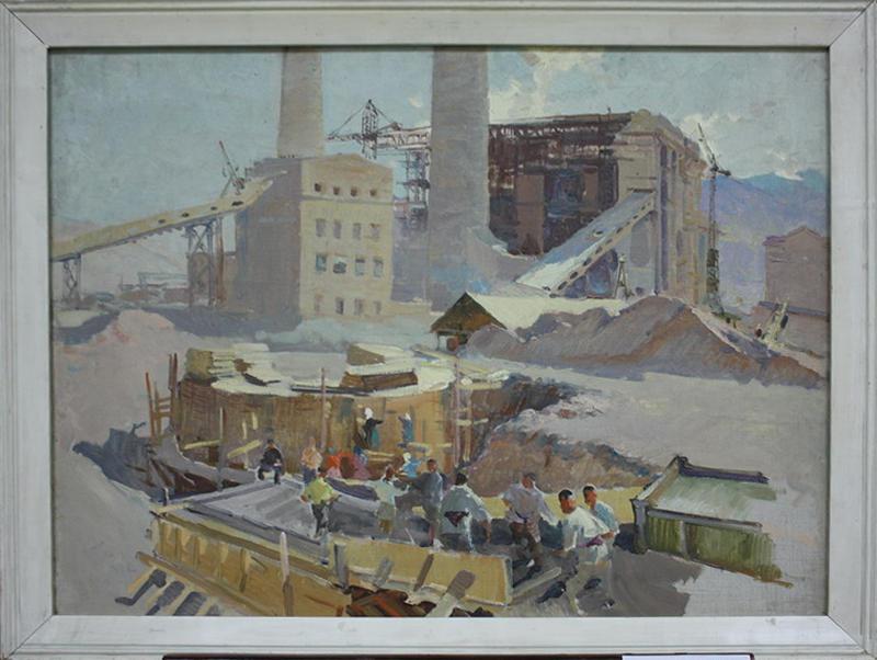 Жмакин В. На строительстве Ангренской ГРЭС. 1958 (ДХВ)