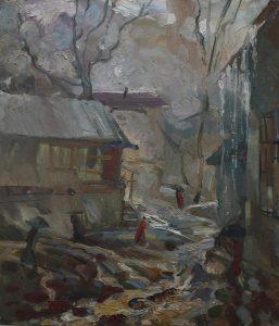 Аджиметов Кудратилла. Дождливый день. 2005