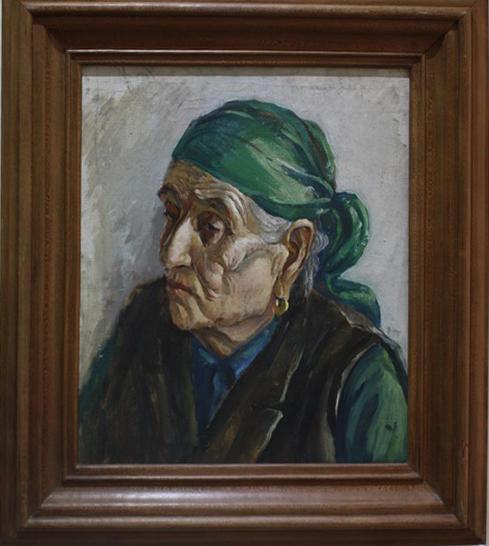 Аджиметов Кудратилла. Портрет бабушки. 1979
