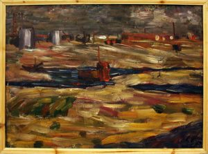 Жоллыбай Изентаев. Дно моря (город Аральск). 1989