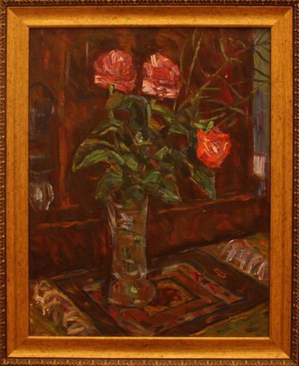 Жоллыбай Изентаев. Натюрморт с розой. 1996