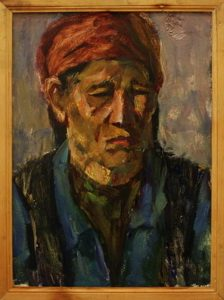 Жоллыбай Изентаев.  Портрет матери 1989