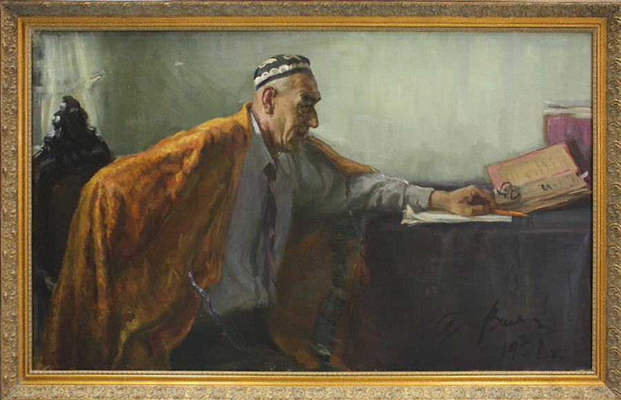 А. Винер. Портрет артиста А. Джалилова. 1958