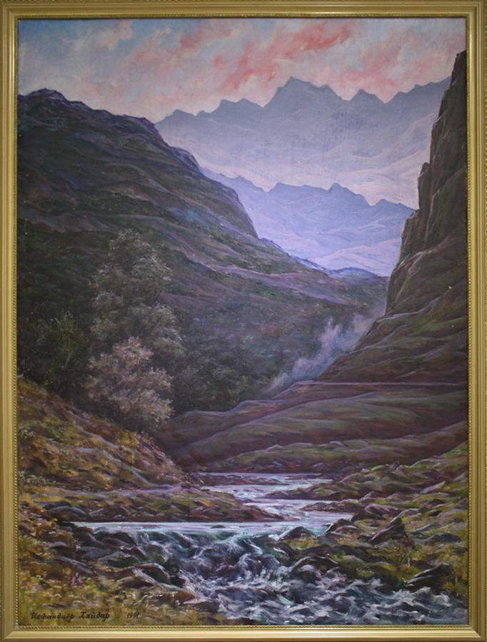 Исфандиёр Хайдаров. Хумсан. Река Угам. 1991