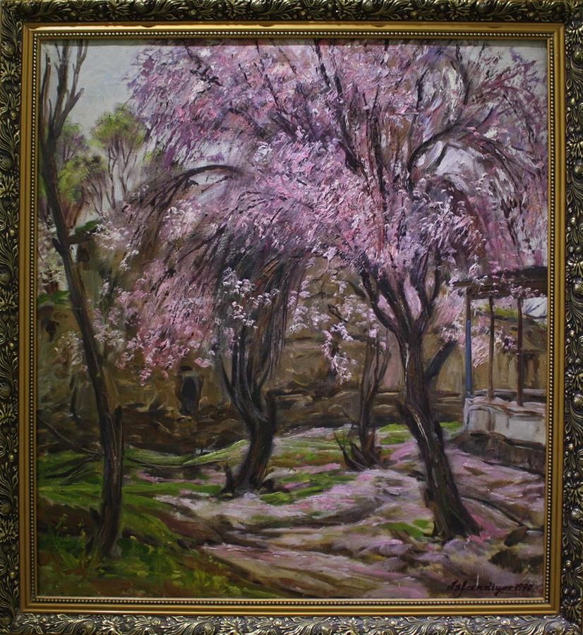 Исфандиёр Хайдаров.Весна в Пашхурде. 1990