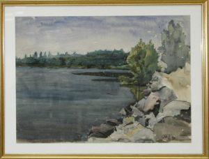 Паруб Михаил. Озеро. Луганская область. 1986