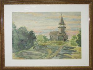 Паруб Михаил. Церквушка в пригороде Новгорода. 1982